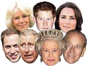 Royal Family - Seven Pack Assorted Masks