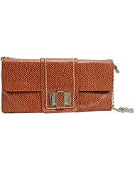 Super Drool Women Casual Brown Leatherette Clutch
