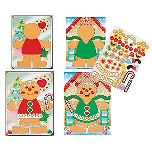 Gingerbread Scene Stickers