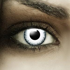 farbige kontaktlinsen mit st rke 39 vampir 39 wei e fun linsen. Black Bedroom Furniture Sets. Home Design Ideas