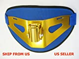 "Fighting Belt, Gold Anodized Finish (Size:13""x8""),with large back Padded Cushion"