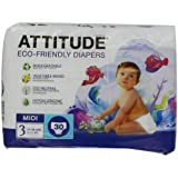 Attitude Eco Friendly Size 3 Nappies - 3 x Pack of 30 (90 Nappies)
