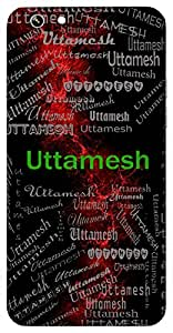 Uttamesh (Lord Shiva) Name & Sign Printed All over customize & Personalized!! Protective back cover for your Smart Phone : Moto G-4-PLAY