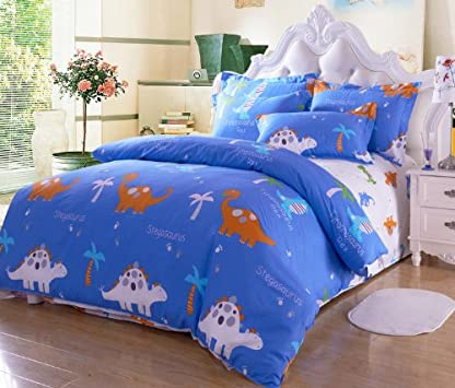 Perfect Cliab Home Textile Dinosaur Bedding Set Kids Queen Size Bedding Sheets Cotton Boys Bedding