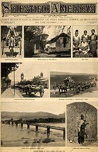 1899 Cover Scientific South Africa Natives Zulu Homes - Original Cover