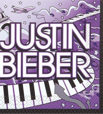 Justin Bieber Beverage Napkins - 16 Per Pack (Justin Bieber Party Pack compare prices)