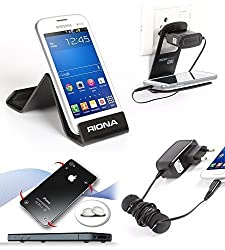 Riona Mobile holder A5S Black + Hanger Stand + Cable Organizer + Scratch Guar... A5SB-C