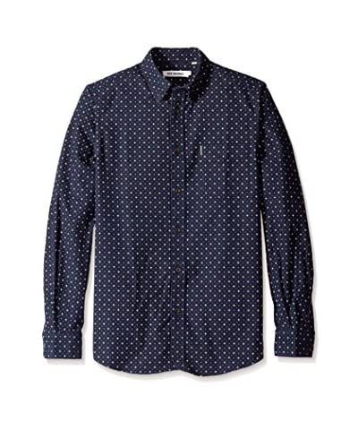 Ben Sherman Men's Dobby Print Button Down