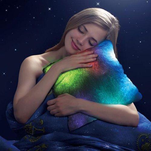 AMOS 10 LED 7 Mood Colour Changing Light Up Glowing Illuminating Mood Super Soft Cosy Relax Plush Mood Pillow Cushion