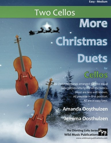 More Christmas Duets for Cellos: 26 Christmas traditional songs arranged for two equal cello players who know all the basics. Most are less well known. All are in easy keys