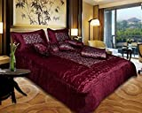 El Sandlo Satin double bed bedding set of 8 pcs.