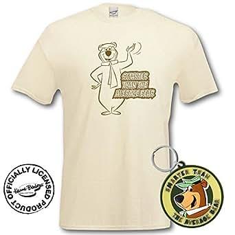 Yogi Bear T-Shirt and Keyring Giftset (Small, Natural)