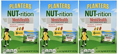 Planters Nut Rition Mens Health Mix 6 Count 7 5oz Box