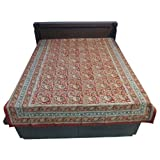 """60X90"""" Bagru Print Block Print Double Bed Spread- Double Bed Cover- Double Bed Sheet - Online Shopping For Home... - B00G8V8PZC"""