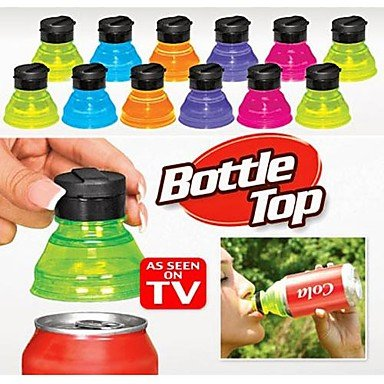 LWW 3pcs Turn Convert Cans into Bottles Reusable Snap On Tops Soda Lids Caps Cover