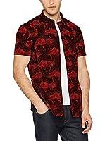 Dirk Bikkembergs Camisa Hombre (Rojo / Negro)