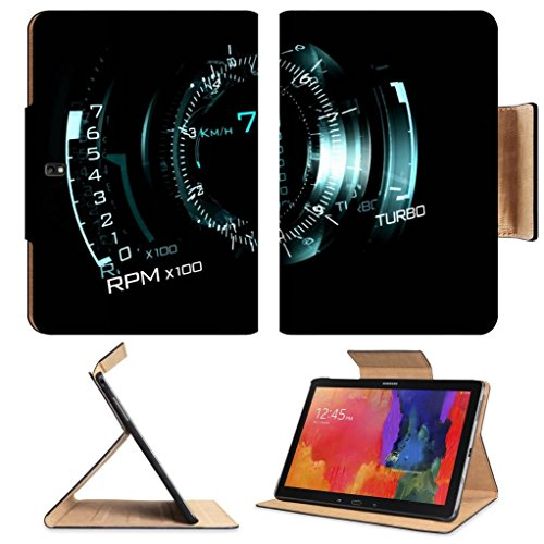 Speedometer Black Creative Artistic Design Samsung Tab Pro 12.2 Flip Case Stand Smart Magnetic Cover Open Ports Customized Made To Order Support Ready Premium Deluxe Pu Leather Luxlady Professional Graphic Background Covers Designed Model Folio Sleeve Hd front-1004083