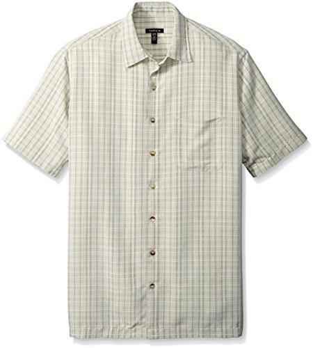Van heusen men 39 s big tall short sleeve rayon poly plaid for Van heusen plaid shirts