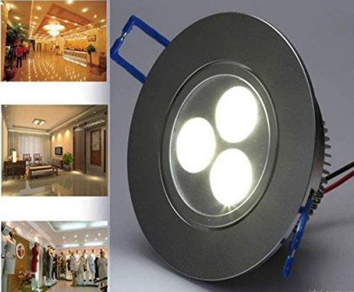 Siga®3W White Power Led Recessed Ceiling Down Bulb Spot Light Lamp 85V-220V Quality Warranty