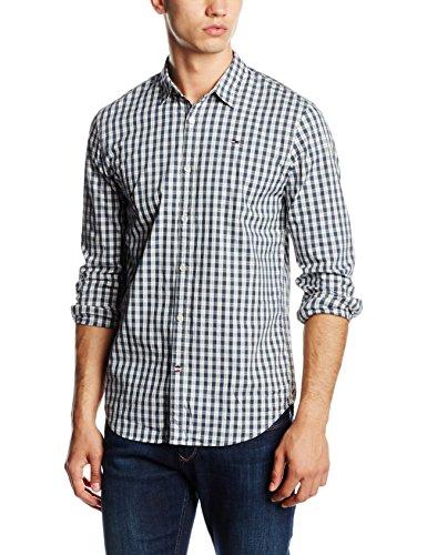 Tommy Hilfiger - Denim Thdm Basic Gingham Shirt L/S 2, Camicia da uomo, Nero (Black Iris Multi 903), XXL