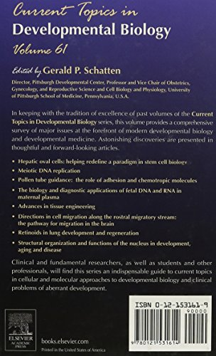 Current Topics in Developmental Biology: 61 (Current Topics in Development Biology)