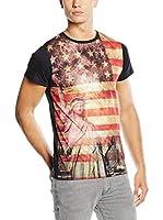 American People Camiseta Manga Corta Andre (Multicolor / Negro)