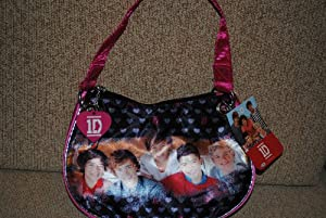 1D One Direction Pink Black Bag Purse Harry Liam Louis Niall Zayn by 1D One Direction