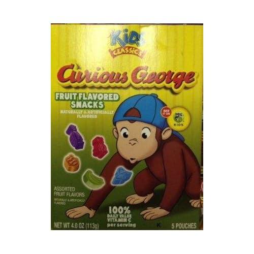 Amazon.com : Curious George Fruit Snacks (4 oz Boxes) 2 ...