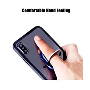 Auzky 2 in 1 Foldable Phone Ring Holder Car Air Vent Mount Phone Bracket Phone Finger Stand Grip Phone Holder Black