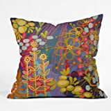 DENY Designs Stephanie Corfee Bluesy Throw Pillow, 16-Inch by 16-Inch