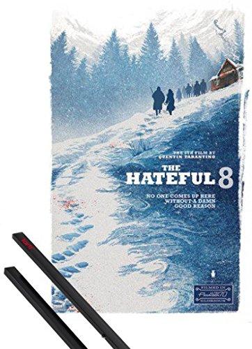Poster + Sospensione : The Hateful Eight Poster Stampa (91x61 cm) Damn Good Reason, Quentin Tarantino e Coppia di barre porta poster nere 1art1®