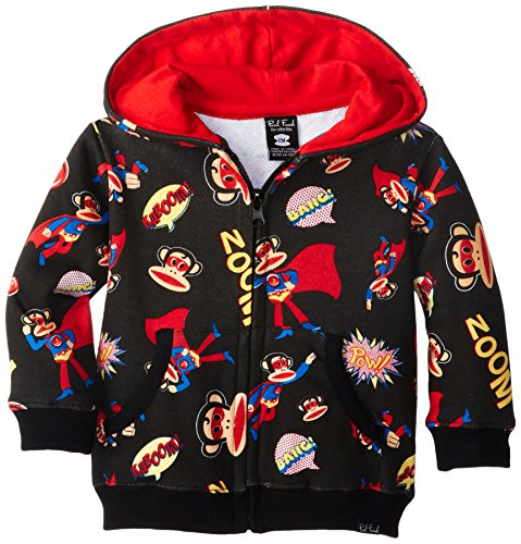 Paul Frank Baby Boys' Supper Julius Fleece Hoodie fashion european winter jacket women big fur collar hooded coat female medium long down parka outwear loose overcoat hn156