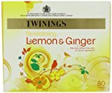 Twinings Revive and Revitalise Lemon and Ginger Tea Bags 120 g (80 Tea Bags)