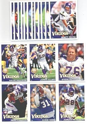 2010 Topps Minnesota Vikings Complete Team Set (18 Cards)