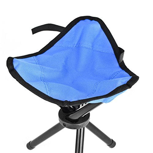 Eyourlife Foldable Stool Slacker Chair Tri Legged Portable Outdoor Folding Tr