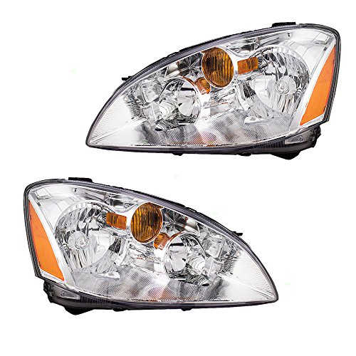 Driver and Passenger Halogen Headlights Headlamps Replacement for Nissan 260603Z626 260103Z626 (2002 Nissan Altima Headlights compare prices)