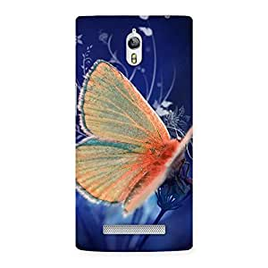 Yellowish Butterfly Back Case Cover for Oppo Find 7