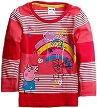 peppa pig Little Girls39 Long-Sleeve Exquisite Beauty Cotton T Shirts