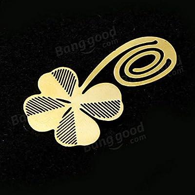 easyshop Lesen Vierblättriges Kleeblatt Metallklammer Lesezeichen Geschenk Buch-Kennzeichen von easyshop4u bei Gartenmöbel von Du und Dein Garten