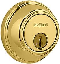 Kwikset 816 Key Control Single Cylinder Deadbolt featuring SmartKey® in Polished Brass