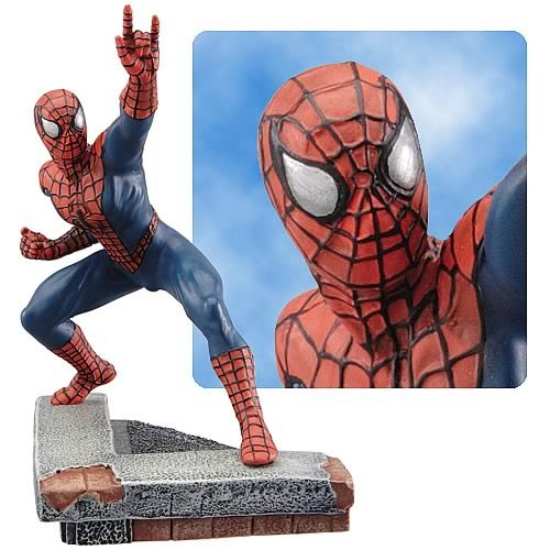 Buy Low Price Corgi Marvel Diecast Spider-Man 1/12 Scale Statue Figure (B0015MG12S)