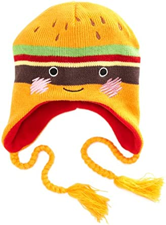 Amazon.com: Bioworld Girls 7-16 Cheeseburger Laplander Hat, Orange, One Size: Clothing