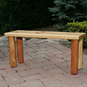 Nicholas Collection Childrens Food and Fun Table Bench from Moon Valley Cedar Works