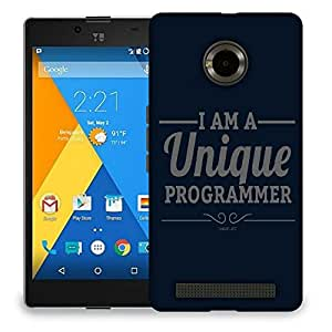 Snoogg I Am A Unique Programmer Designer Protective Back Case Cover For MICROMAX YU YUPHORIA