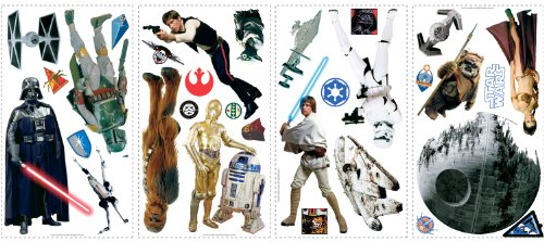 Roommates Rmk1586Scs Star Wars Classic Peel And Stick Wall Decals - 1