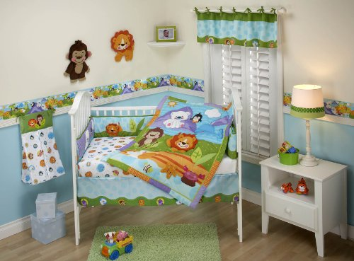 Fisher Price Precious Planets 4 Piece Crib Bedding Set