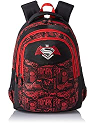 Simba 18 Inches Black And Red Children's Backpack (BTS-2006)