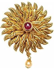 Hair Brooch Bun Pin Pearl Ruby Hair Pin For Women Online