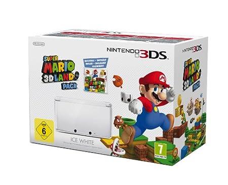 3DS Konsole + Super Mario 3D Land, weiß