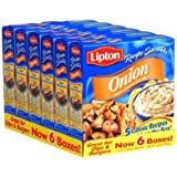 Lipton Recipe Secrets Onion Recipe Soup & Dip Mix, 2.0 CT (6 Pack)